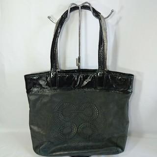 b9864f414b0d コーチ(COACH)の本物コーチオールドレザーハンドバッグショルダートート鞄グレーブラック黒