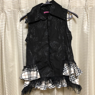 エイチナオト(h.naoto)のh.jelly 袖なしフリルブラウス(シャツ/ブラウス(半袖/袖なし))