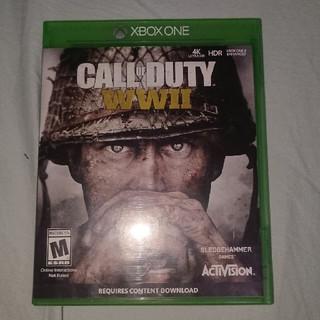 エックスボックス(Xbox)のXBOX ONE CALL OF DUTY WWⅡ 海外版 日本本体起動確認済み(家庭用ゲームソフト)