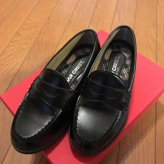 セダークレスト(CEDAR CREST)のローファー 黒 23センチ(ローファー/革靴)