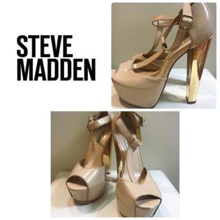 スティーブマデン(Steve Madden)のスティーブマデン エナメル×ゴールドヒール パンプス(ハイヒール/パンプス)