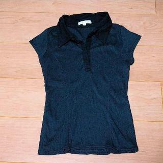 オフオン(OFUON)のsize38 黒カットソー ofuon(カットソー(半袖/袖なし))