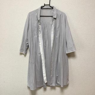 シンプリシテェ(Simplicite)の🍀【simplicit'e】ロング丈ストライプシャツ(シャツ/ブラウス(長袖/七分))
