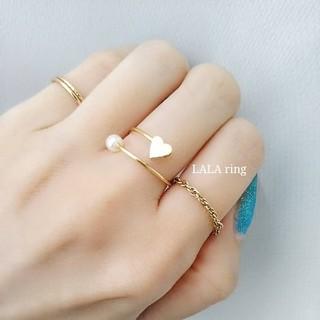 LALA ring☆ハート&パールのストリームリング(リング)