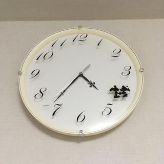 ディズニー(Disney)のミッキー&ミニー  掛け時計(掛時計/柱時計)