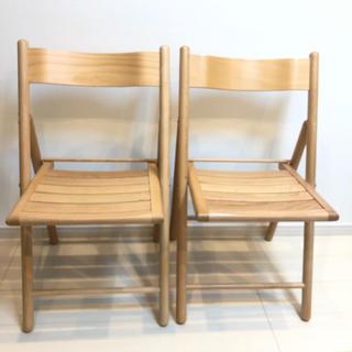 MUJI (無印良品) - 無印良品 無印 MUJI 折りたたみチェア 椅子 2つセット