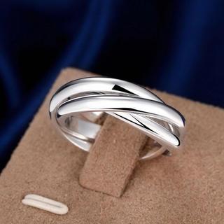 シルバーリング 三連タイプ  シルバー925メッキ(リング(指輪))