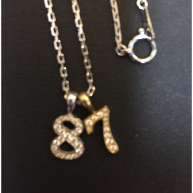 EYEFUNNY(アイファニー)のEYEFUNNY ナンバー8とチェーンのセット レディースのアクセサリー(ネックレス)の商品写真