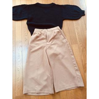 ジーユー(GU)のGUセーター&INGNIガウチョスカート(ニット/セーター)