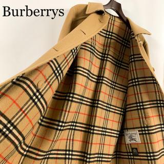 バーバリー(BURBERRY)のBurberrys バーバリー ウールコート ノバチェック 80s 90s 美品(ロングコート)
