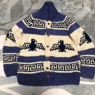 カナタ(KANATA)のカナタ カウチン レアカラー ブルー カナダ製(ニット/セーター)