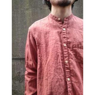 ネストローブ(nest Robe)のオーバーダイリネンバンドカラーシャツ(シャツ)