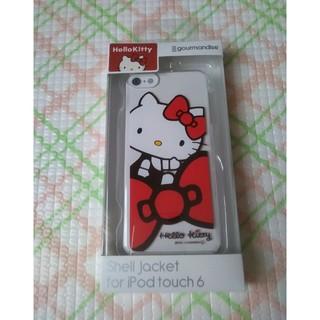 ハローキティ(ハローキティ)の未開封 新品 iPod touch6 シェルジャケット ハローキティ カバー (モバイルケース/カバー)