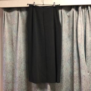 イタリヤ(伊太利屋)の新品♡ 伊太利屋 スカート 9号 ロゴ ラインストーン 黒 ブラック(ひざ丈スカート)