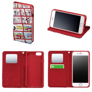 ディズニー(Disney)のiPhone7ケース スマホケース 手帳型 ポケット付き ミッキー ミニー(スマホケース)