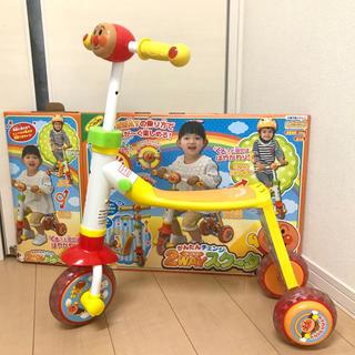 ジョイパレット(ジョイパレット)の美品 アンパンマン かんたんチェンジ!2WAYスクーター ジョイパレット(三輪車)