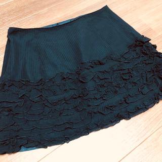 ドーリーガールバイアナスイ(DOLLY GIRL BY ANNA SUI)のANNA SUI ドーリーガール バイ アナスイ ミニスカート フリル 黒 2(ミニスカート)