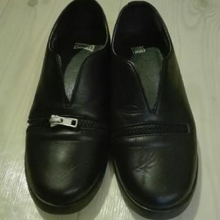 カンペール(CAMPER)のカンペール ツインズ 黒 本革 38(ローファー/革靴)