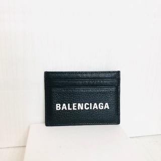 バレンシアガ(Balenciaga)の極美品 バレンシアガ エブリデイ カードケース 黒 (名刺入れ/定期入れ)