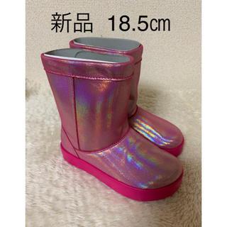 新品 タグ付き crocs ロッジポイントブーツ 18.5㎝  定価4980円