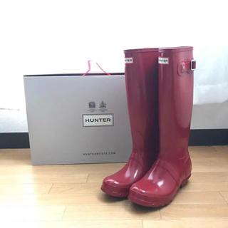 ハンター(HUNTER)のHUNTER 長靴 赤 美品(レインブーツ/長靴)