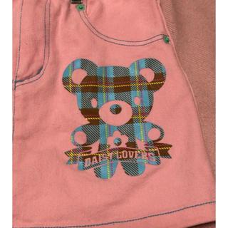 ディジーラバーズ(DAISY LOVERS)のデイジーラヴァーズ  ピンクのくまさんプリントスカート 120(スカート)