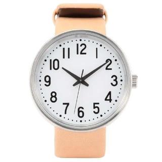 ムジルシリョウヒン(MUJI (無印良品))の無印良品 腕時計 公園の時計・小 ヌメ革(腕時計)