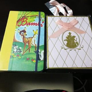 ディズニー(Disney)の新品未開封‼Disney ノート&ギフトバッグ(カード/レター/ラッピング)