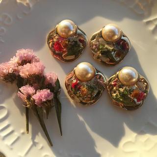 flower button(ピアス)