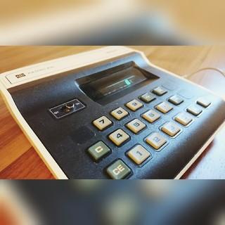 パナソニック(Panasonic)のアンティーク National LED卓上電卓  PANAC830 1970´s(オフィス用品一般)