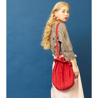 シャンブルドゥシャーム(chambre de charme)の♡美品♡【eiπeイーペ 】ストロベリー刺繍巾着bag(ショルダーバッグ)