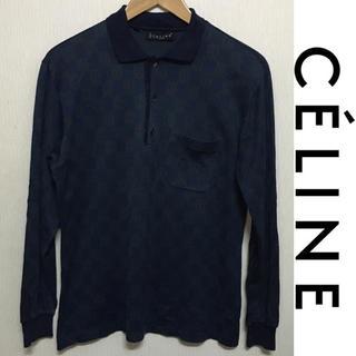 90c33b800792 セリーヌ(celine)のCELINE ポロシャツ ヴィンテージ セリーヌ 総柄 市松模様 長袖 (ポロシャツ