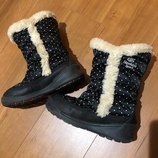 ジーティーホーキンス(G.T. HAWKINS)のスノーブーツ☆ホーキンス黒白ドット17cm(ブーツ)