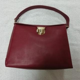 ハコ(haco!)のhaco! お出かけバッグ クラシックな雰囲気が上品でかわいい 赤 フェリシモ(ハンドバッグ)