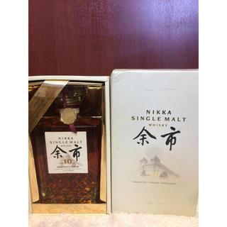 ニッカウイスキー(ニッカウヰスキー)のニッカ ウイスキー シングルモルト 余市 10年 旧ボトル 箱付き(ウイスキー)