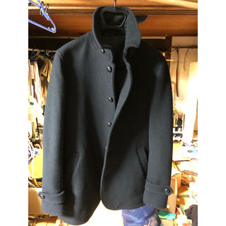 無印良品 ウールコート ブラック