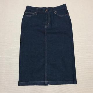 ムジルシリョウヒン(MUJI (無印良品))の無印♡デニム♡ミモレ丈♡お店に売ってます♡(ひざ丈スカート)