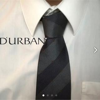 ダーバン(D'URBAN)の大人気 DURBAN ダーバン 日本製 レジメンタル 高級シルクネクタイ(ネクタイ)