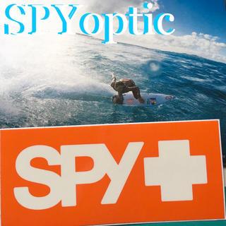 スパイ(SPY)のSPYスパイ オプティックUS限定オレンジBOXバナー ステッカー(サーフィン)