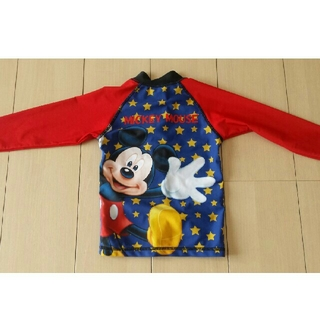 ディズニー(Disney)のDISNEY  ミッキーマウス 男女児兼用100  長袖ライフガード水着(水着)