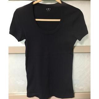 スリードッツ(three dots)のスリードッツ  ジェシカTシャツ  ネイビー(Tシャツ(半袖/袖なし))