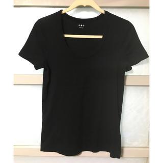 スリードッツ(three dots)のスリードッツ ジェシカTシャツ  黒(Tシャツ(半袖/袖なし))