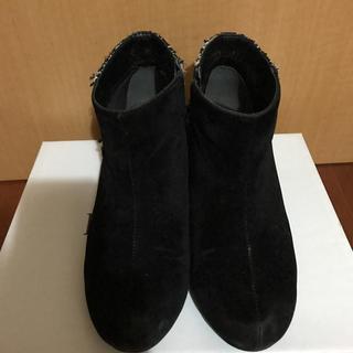 ジーユー(GU)のGU 千鳥格子 ショートブーツ ブーティ Lサイズ(ブーティ)