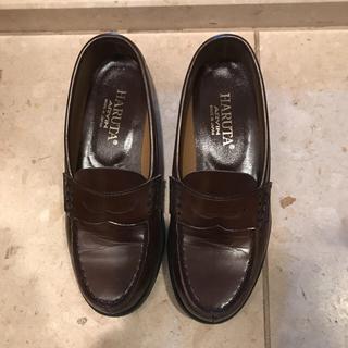 ハルタ(HARUTA)の⭐️エアリアル様用 ハルタ 合皮靴 茶色 23cm EE と23.5cm EE (ローファー/革靴)