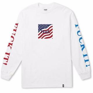 ハフ(HUF)の【新品未使用】 HUF アメリカ国旗ロゴ入りロングTシャツ(Tシャツ/カットソー(七分/長袖))