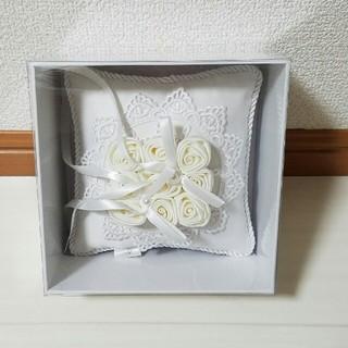 4℃ ヨンドシー リングピロー 箱付き ウェディング 結婚式(リングピロー)