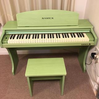 【綺麗⭐️希少カラー】SAMICK 電子ピアノ&イス(電子ピアノ)