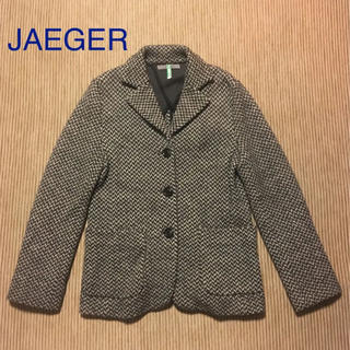 イエーガー(JAEGER)のJAEGER イェーガー ウールニットジャケット カーディガン(ニットコート)