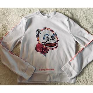 チープマンデー(CHEAP MONDAY)の【CHEAP MONDAY】フローラルスカルのスウェットシャツ♡チープマンデー(トレーナー/スウェット)