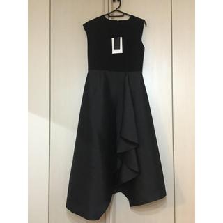 エストネーション(ESTNATION)の未使用 PEELSLOWLY ドレス 黒(ミディアムドレス)